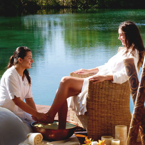 relaxing with spa