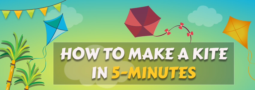 Kite making in 5 minutes