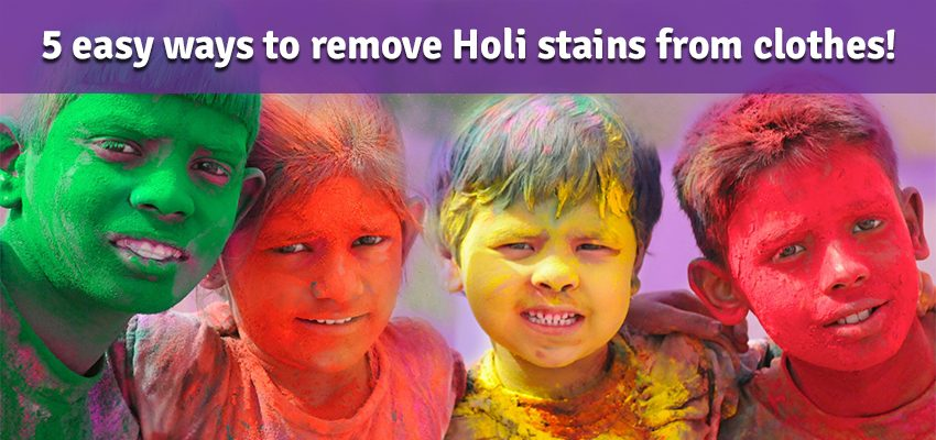 5 easy ways to remove Holi stains from clothes!